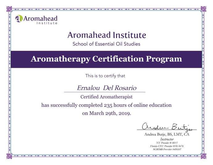 Certified aromatherapist philippines