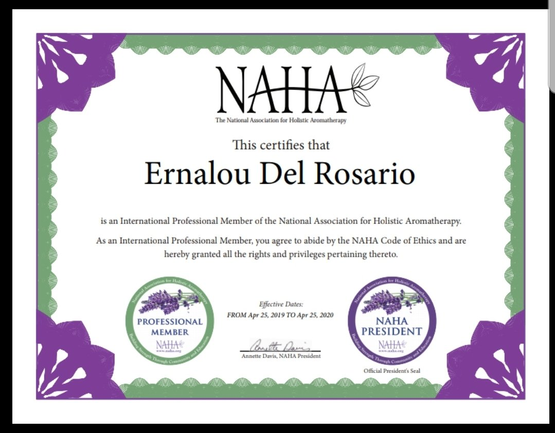 I am now a Certified Professional Aromatherapist!